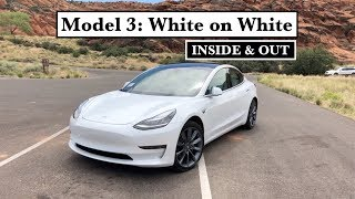 Tesla Model 3: White on White - Inside & Out - Quick Visual Review