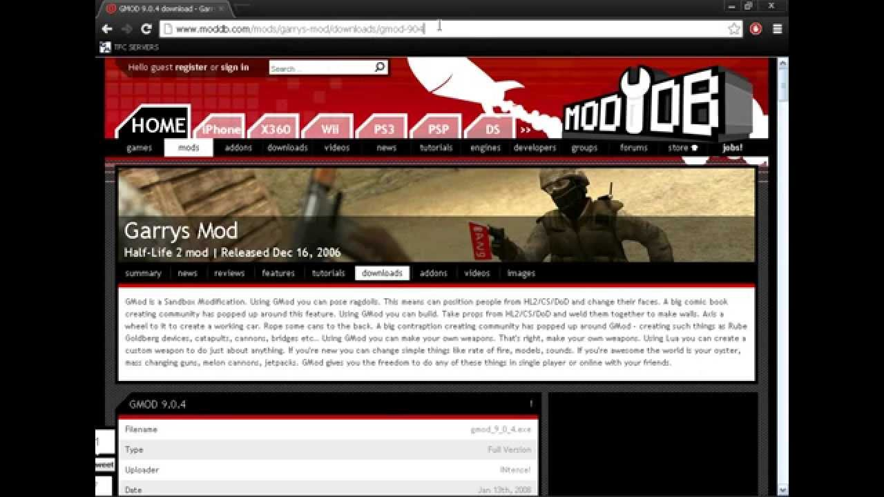 Free steam accounts With Gmod