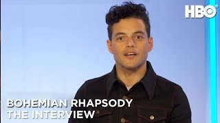 'Bohemian Rhapsody' Interview w/ Rami Malek, Lucy Boynton & More | HBO