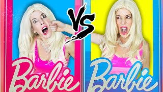 Trapped with Evil Twin in Barbie Dollhouse for 24 Hours! | Rebecca Zamolo