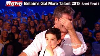 Simon Cowell and son Eric who Steals the Show  Britain's Got Talent 2018 Semi Final  BGT S12E08