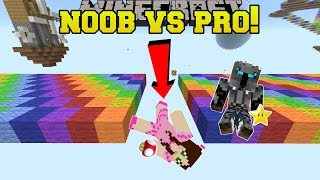 Minecraft: NOOB VS PRO!!! - RAINBOW ROAD!! - Mini-Game