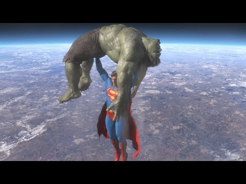 Superman vs Hulk - The Fight (Part 4)