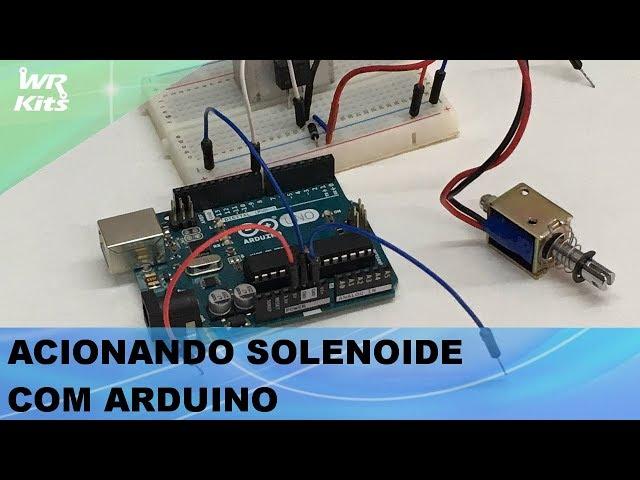 DRIVER PARA ACIONAR SOLENOIDE 1,5A COM ARDUINO