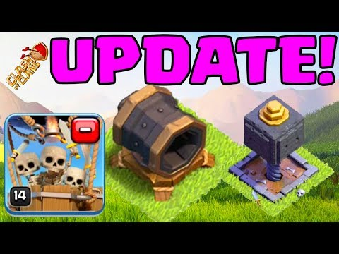 BUILDER HALL 7! Clash of Clans UPDATE Announced! Giant Cannon, Drop Ship, MORE!