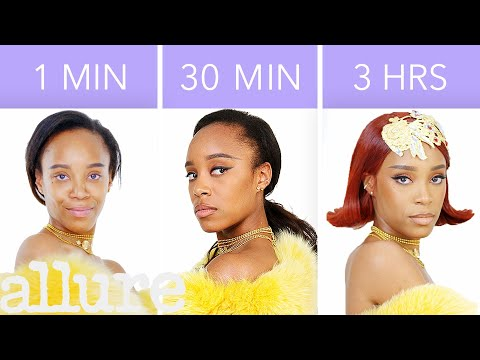 Rihanna's Look in 1 Minute, 30 Minutes, and 3 Hours - Makeup Challenge | Allure