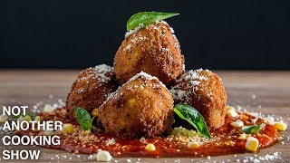 how to make EASY ARANCINI (Risotto Balls)