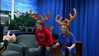2017-12-8 Games With Guests Reindeer Spaghetti Toss