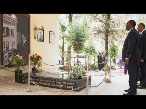 S.E.M. OUATTARA, a visité le Mausolée de l'ancien Premier Ministre éthiopien, Meles ZENAWI