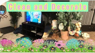 Easter decor + clean with me