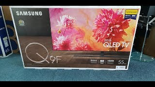 Samsung 2018 Q9 QLED QE55Q9FNAT Quick Unbox, Setup with Demo