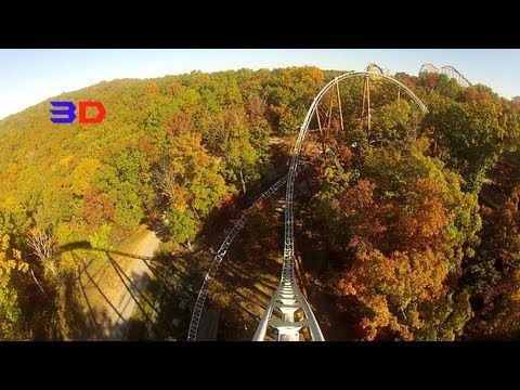 Powder Keg 3D Front Seat on-ride HD POV Silver Dollar City