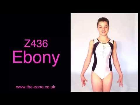 Ebony Sleeveless Gymnastics Leotard
