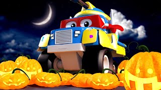 Painting Pumpkins! - Carl The Super Truck in Car City | Children Cartoons