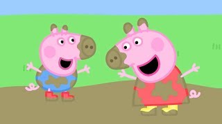 Peppa Pig English Episodes | Muddy Puddles! | 2 HOUR SPECIAL | Cartoons for Children