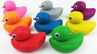 Learn Colors and Learn Numbers with Play Doh Ducks and Baby and Molds