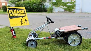How to Make an Electric Go-Cart with ROCKET BOOST !!!