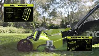 "Video: 40V 20"" BRUSHLESS MOWER WITH 5AH BATTERY & CHARGER"