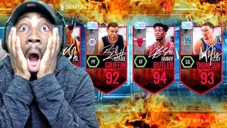 CRAZIEST SIGNATURE PACK OPENING EVER SEEN! NBA Live Mobile 16 Gameplay Ep. 83