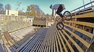 DEATH HALF PIPE BMX RIDING!