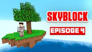 WE BUILT A FACTORY! - Minecraft Skyblock - Ep 4