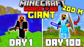 I Survived 100 Days as a GIANT in Hardcore Minecraft... Minecraft Hardcore 100 Days