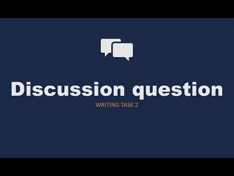 Task 2: discussion essay
