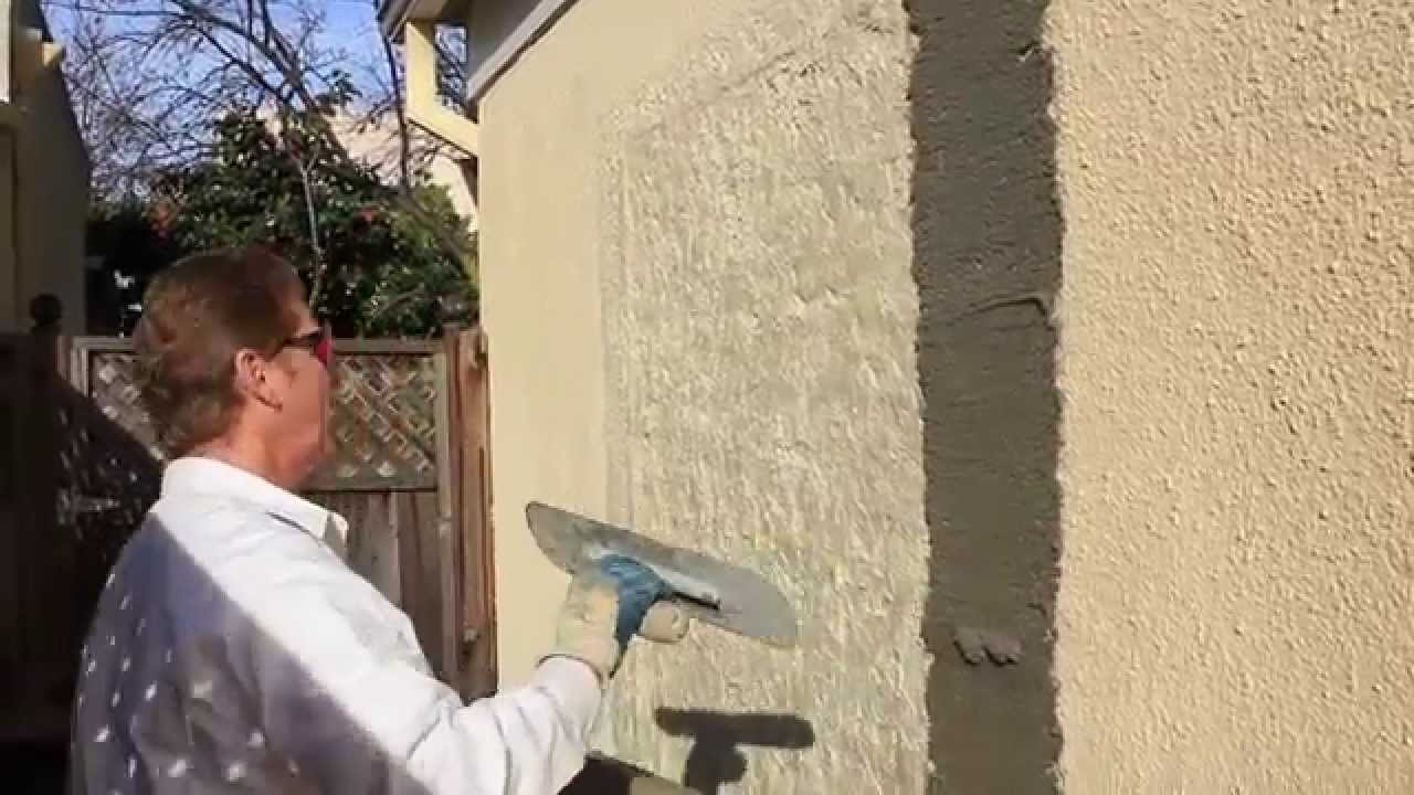 Fix A Bad Ugly Or Wrong Stucco Texture Plaster Patch