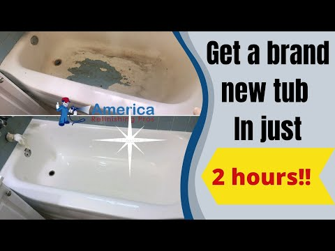 Get a brand new tub in 2 hours and for a couple hundred bucks