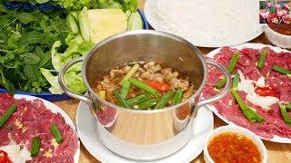 Lẩu Bò - Cách nấu Lẩu Bò nhúng Me ngon, cách làm nước Mắm Me, cách làm Bún by Vanh Khuyen