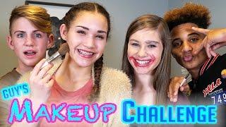 GUYS Makeup Challenge! MattyBRaps vs Justin ft Gracie & CeCe