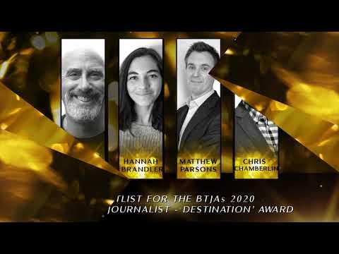 BTJAs 2020 Features Journalist of the Year - Destination