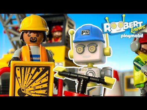 Was passiert auf einer großen Baustelle? | ROBert erklärt | PLAYMOBIL Kinderfilm