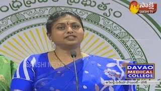 Roja Slams Chandrababu At Assembly Media Point..