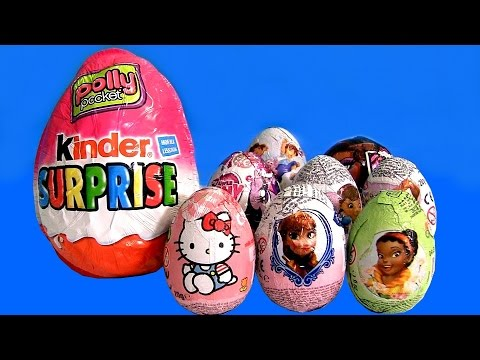 Huge Kinder Surprise Polly Pocket Easter Egg Surprise Disney Fairies Frozen MLP Monster High Toys