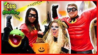Halloween Indoor Trick or Treating in Spooky Box Fort Maze