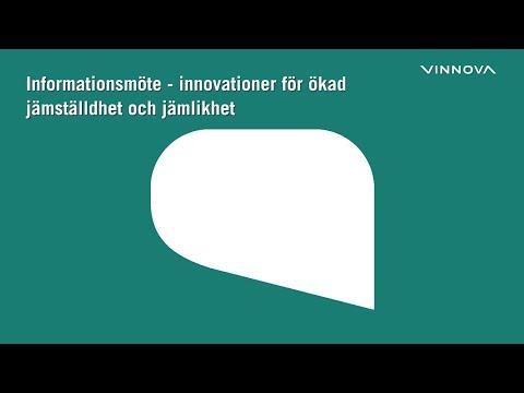 Informationsmöte - innovationer för ökad jämställdhet och jämlikhet