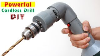 How to make Simple Cordless Drill using PVC pipe