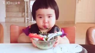 Baby speed eating level  Eating machine Asian