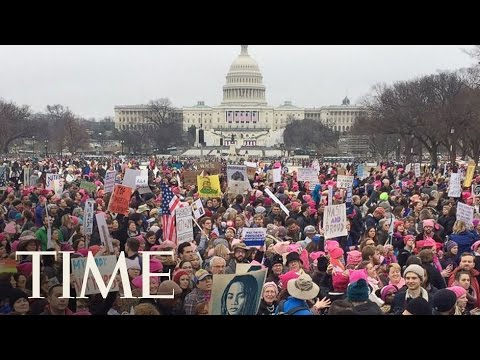 4K VR Hyperlapse Of The Women's March In Washington DC   360 Video   TIME