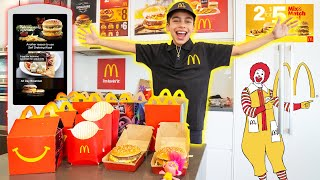We OPENED Our Own McDONALD'S At HOME!! | The Royalty Family