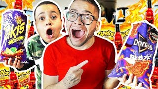 SPICY FOOD ONLY For 24 Hours - Challenge! LAST To Drink Water Wins $10,000