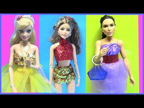 Làm Váy Đẹp Không Cần May Cho Búp Bê!  Làm Đồ Cho Búp Bê Barbie Đi Chơi Tết - Chị Bí Đỏ