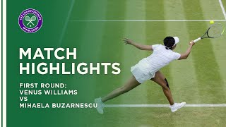 Venus Williams vs Mihaela Buzarnescu | First Round Highlights | Wimbledon 2021