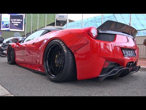 Liberty Walk LB Performance Ferrari 458 Lift System Demonstration