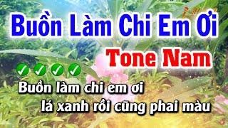 Karaoke Buồn Làm Chi Em Ơi ( Tone Nam ) Bolero Ballad Nhạc Sống