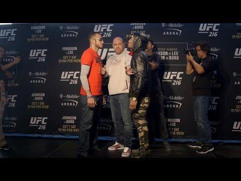 Medialne twarzą w twarz uczestników UFC 216