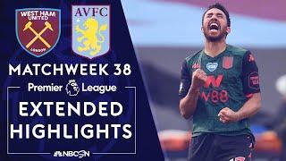 West Ham United v. Aston Villa   PREMIER LEAGUE HIGHLIGHTS   07/26/2020   NBC Sports