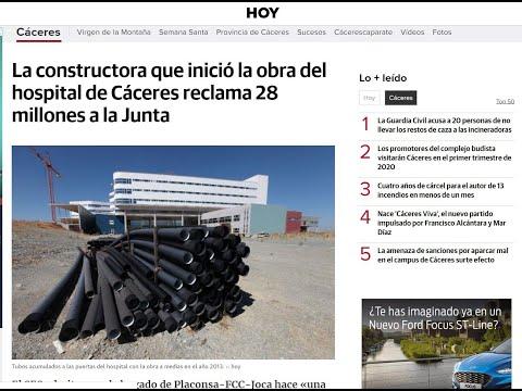 Hospital Universitario de Cáceres Reclamación Paralización Obras