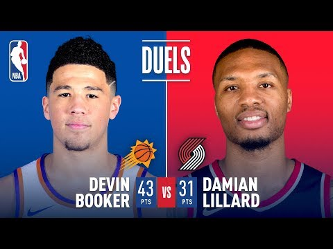 Damian Lillard and Devin Booker Duel it Out In Portland